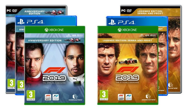 F1 2019 will feature F2 and the Legends Senna vs Prost