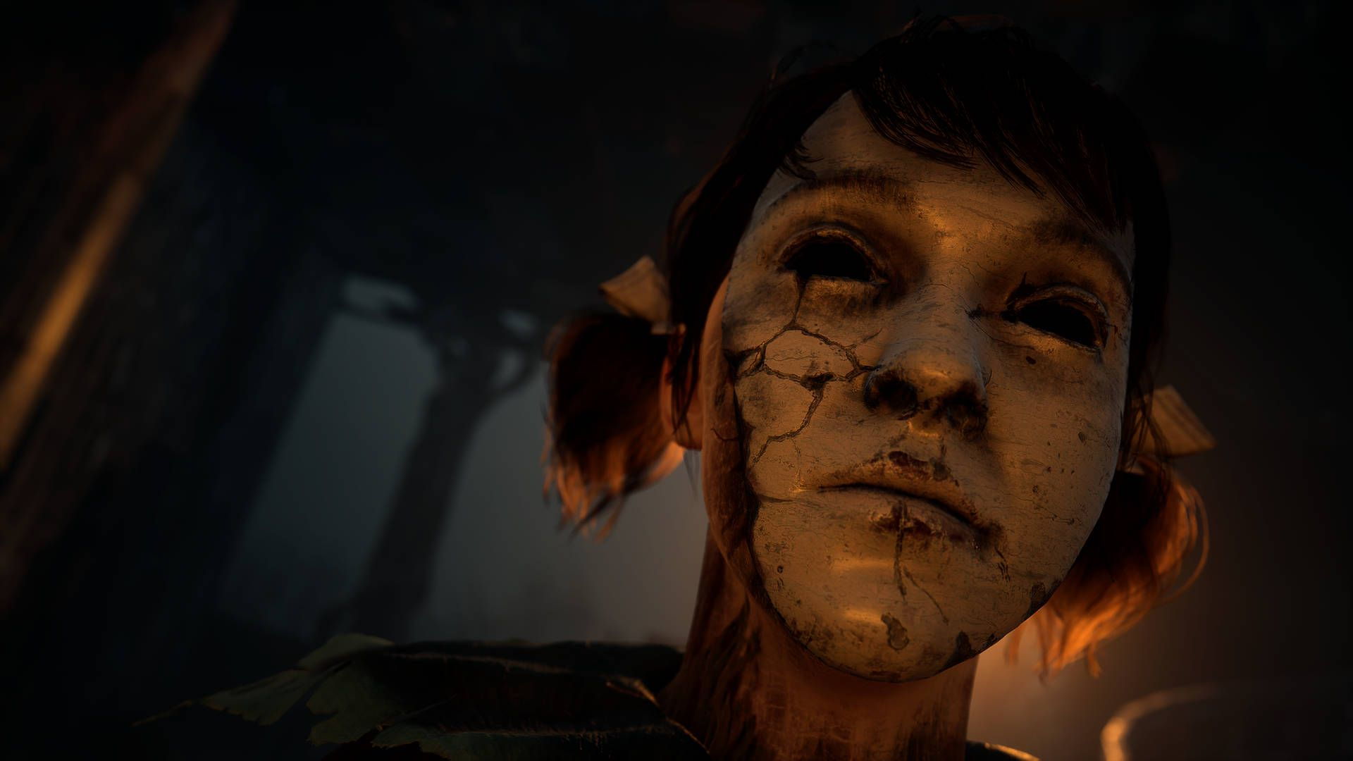 In-game screen shot from The Medium showing a portrait of the character Sadness
