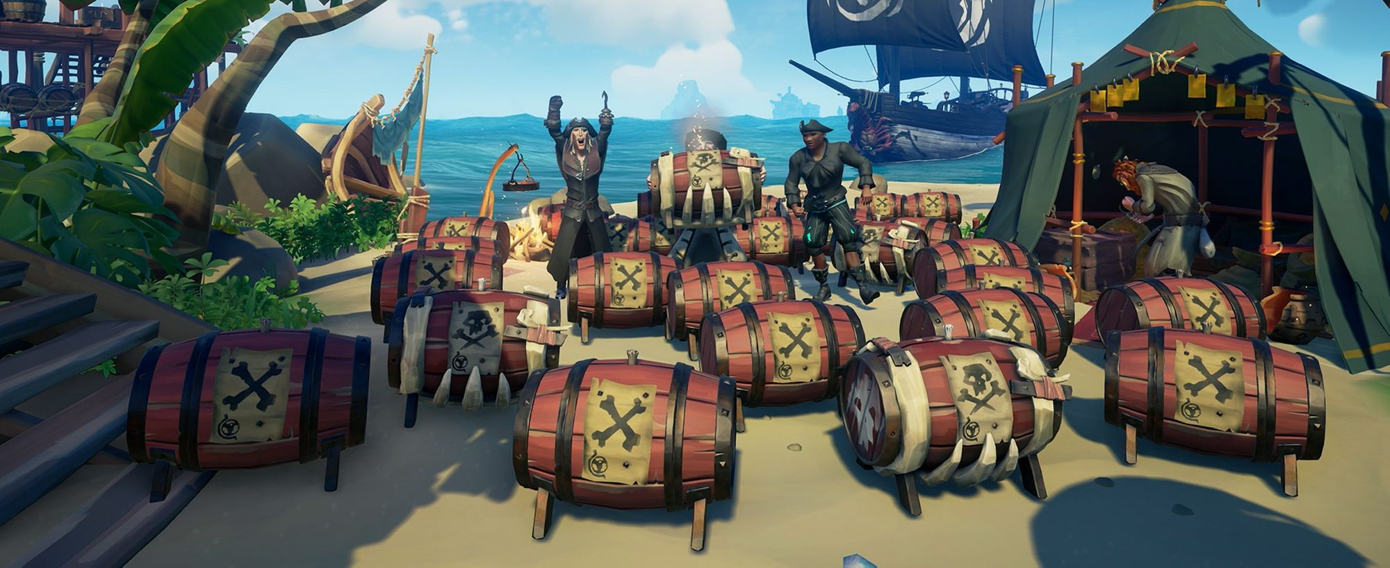 Sea of Thieves update 'Black Powder Stashes' released