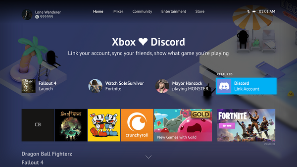 Microsoft will be adding Discord account linking to Xbox