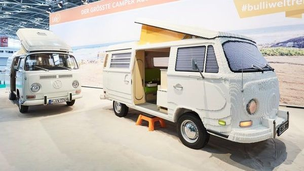 A life size VW camper van was built with Lego for a Trade Show in Munich