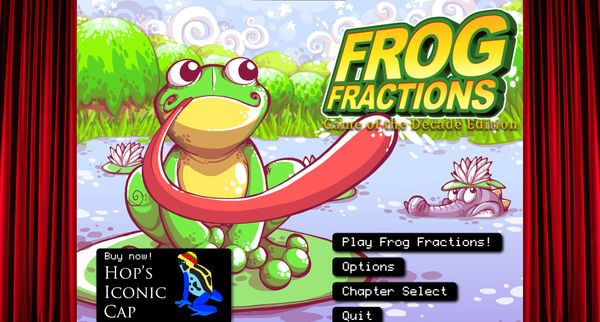 Frog Fractions: Game of the Decade edition is on Steam and everyone needs to play it
